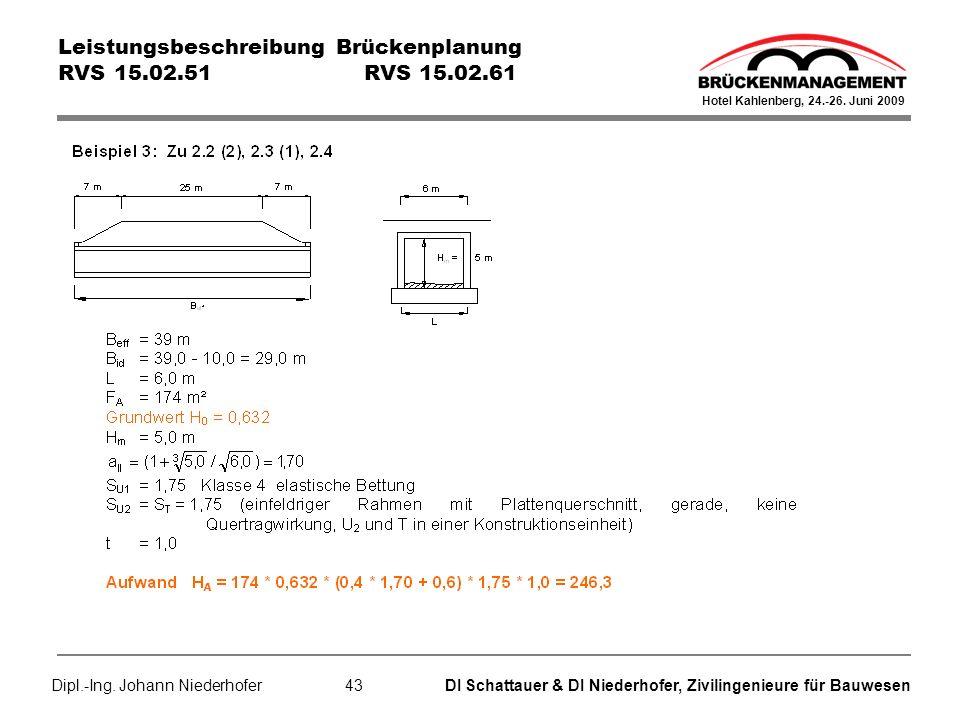 Leistungsbeschreibung Brückenplanung RVS 15.02.51 RVS 15.02.61