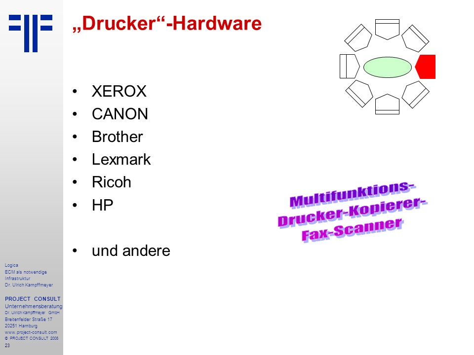 "Multifunktions- Drucker-Kopierer- Fax-Scanner ""Drucker -Hardware XEROX"