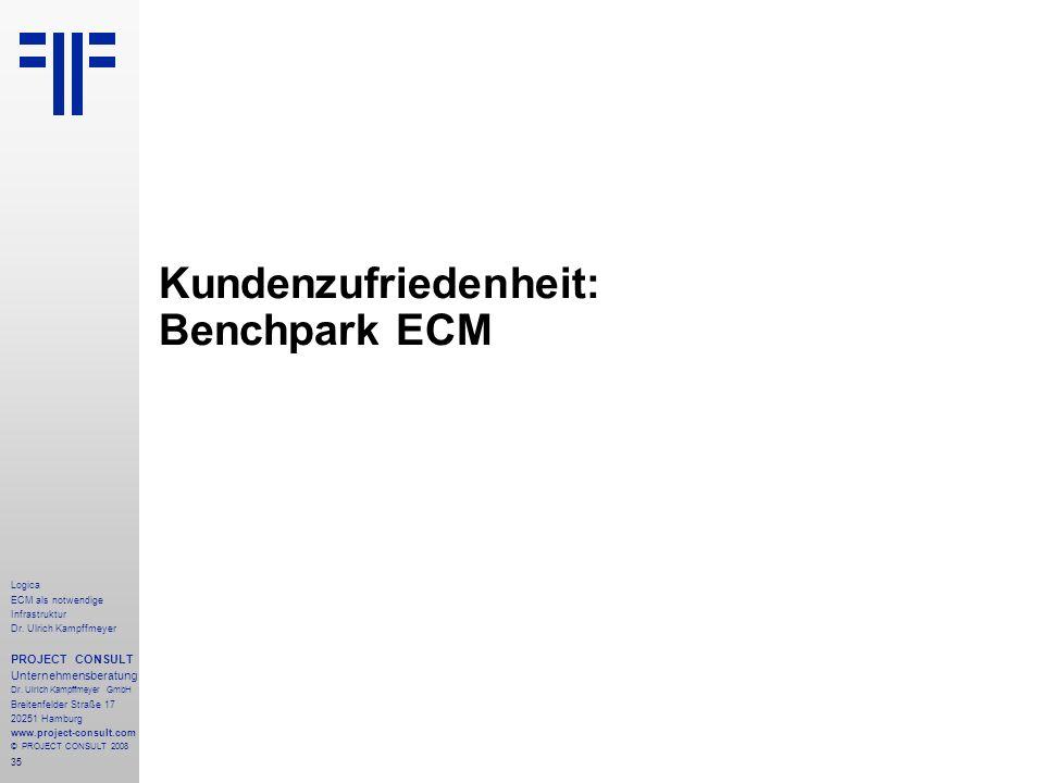 Kundenzufriedenheit: Benchpark ECM