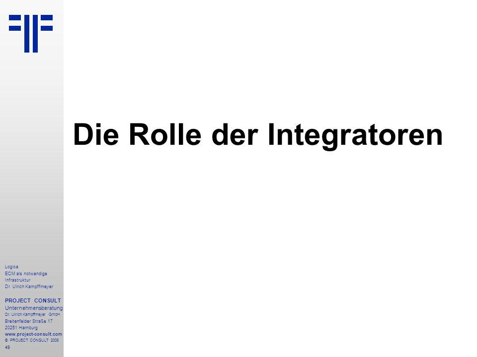 Die Rolle der Integratoren
