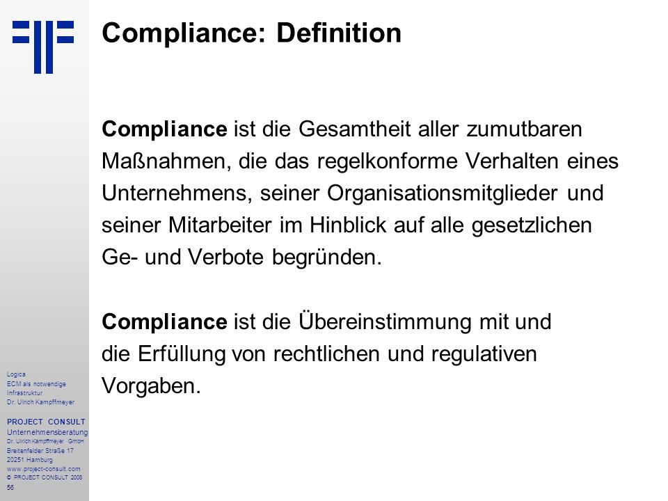 Compliance: Definition