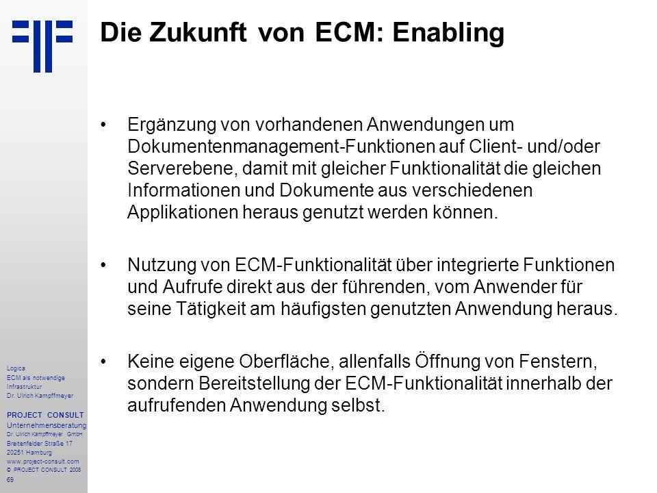 Die Zukunft von ECM: Enabling