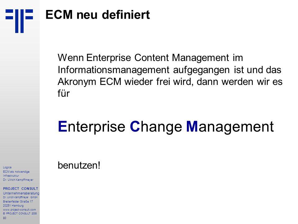 ECM neu definiert