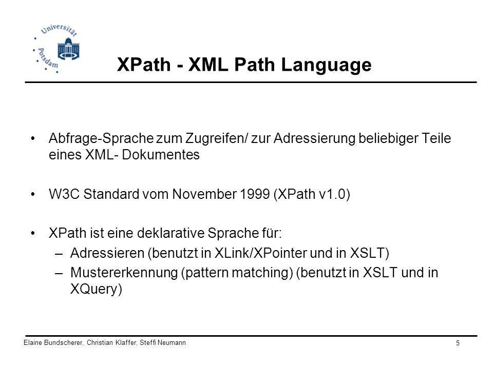XPath - XML Path Language