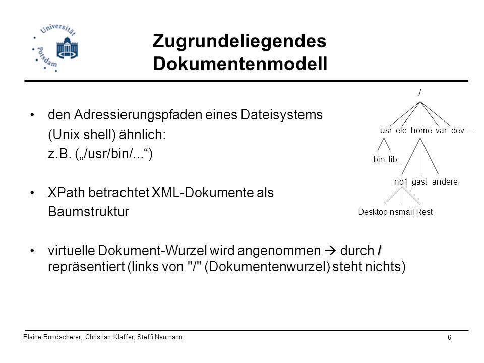 Zugrundeliegendes Dokumentenmodell