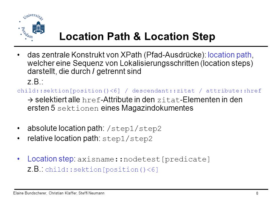 Location Path & Location Step