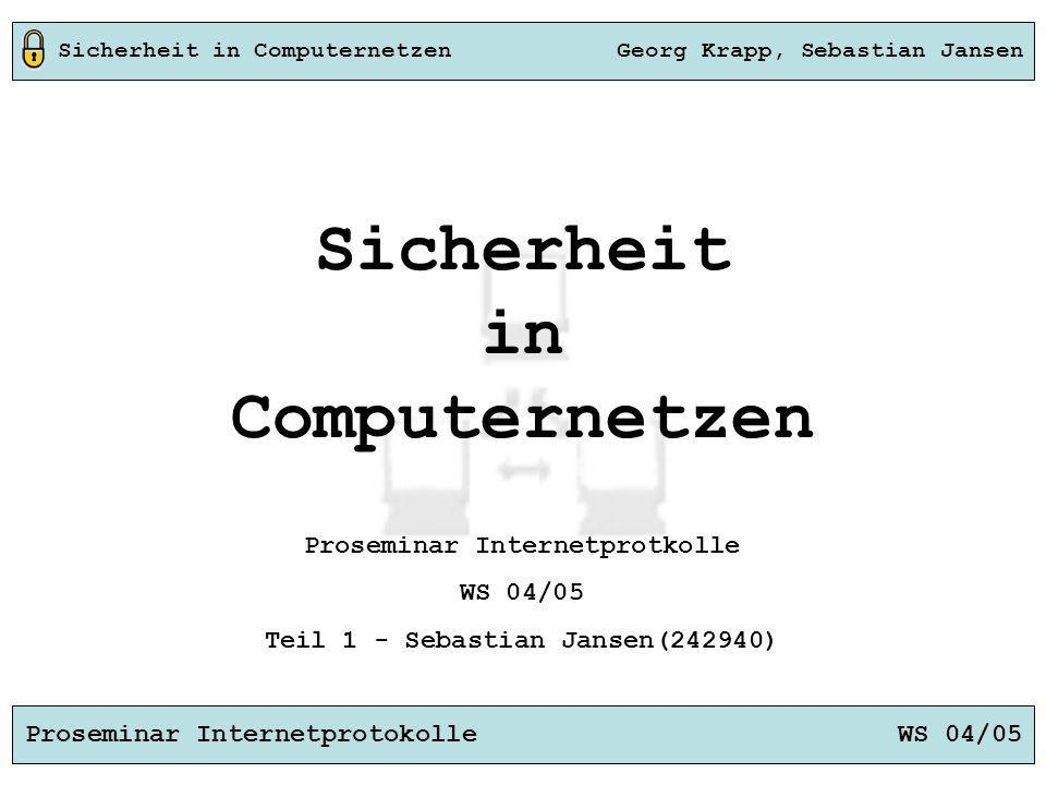 Sicherheit in Computernetzen