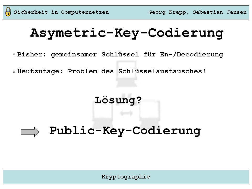 Asymetric-Key-Codierung