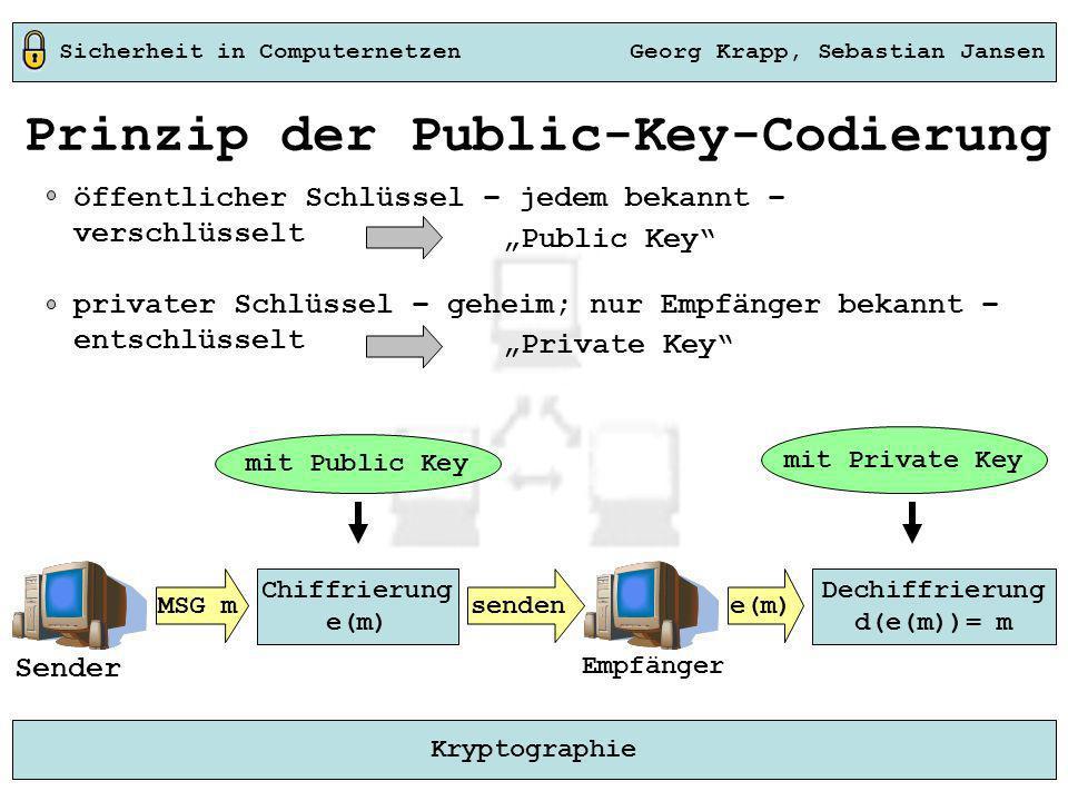 Prinzip der Public-Key-Codierung