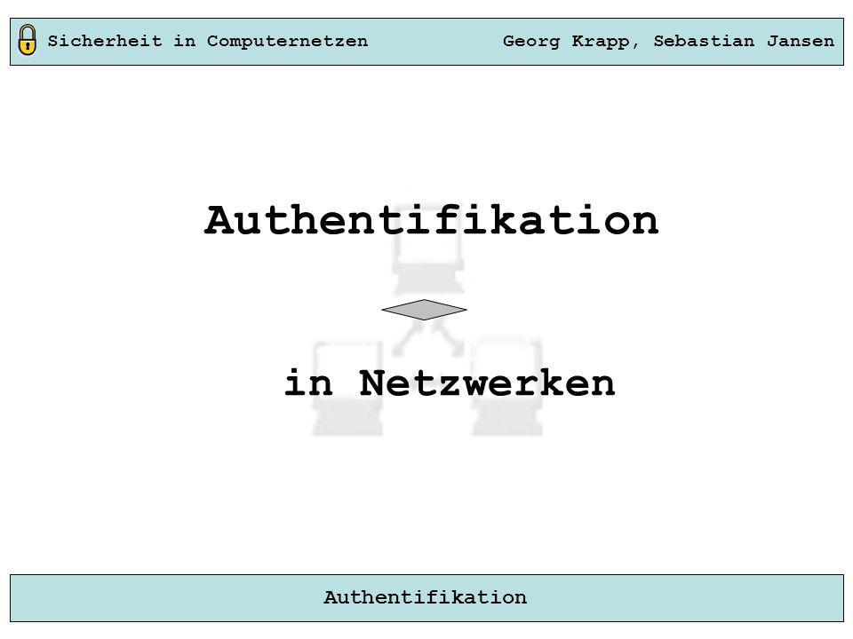 Authentifikation in Netzwerken