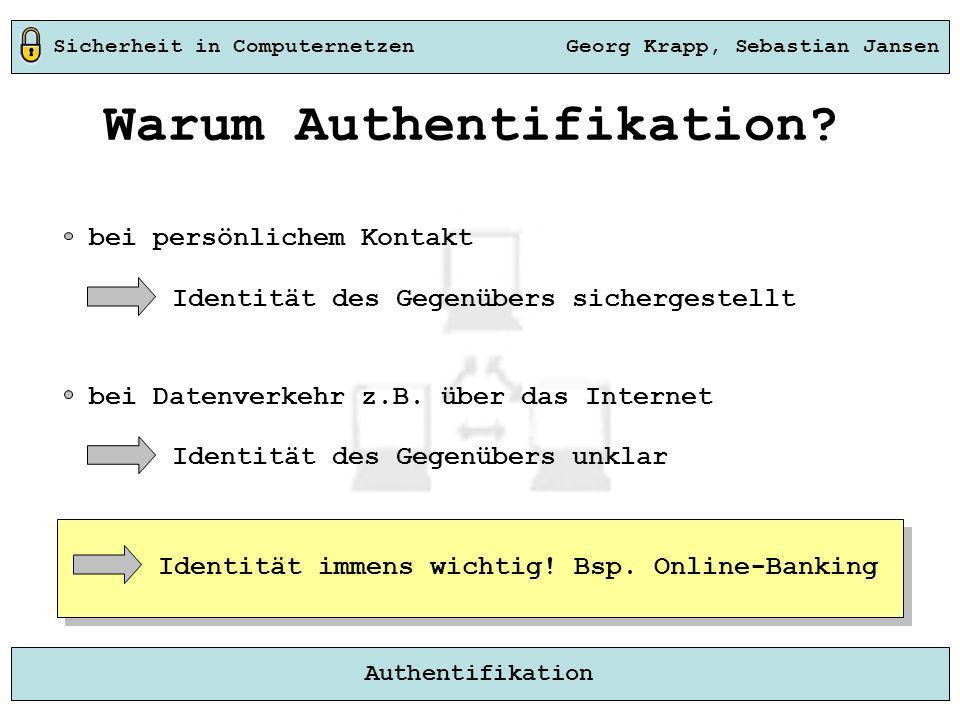 Warum Authentifikation