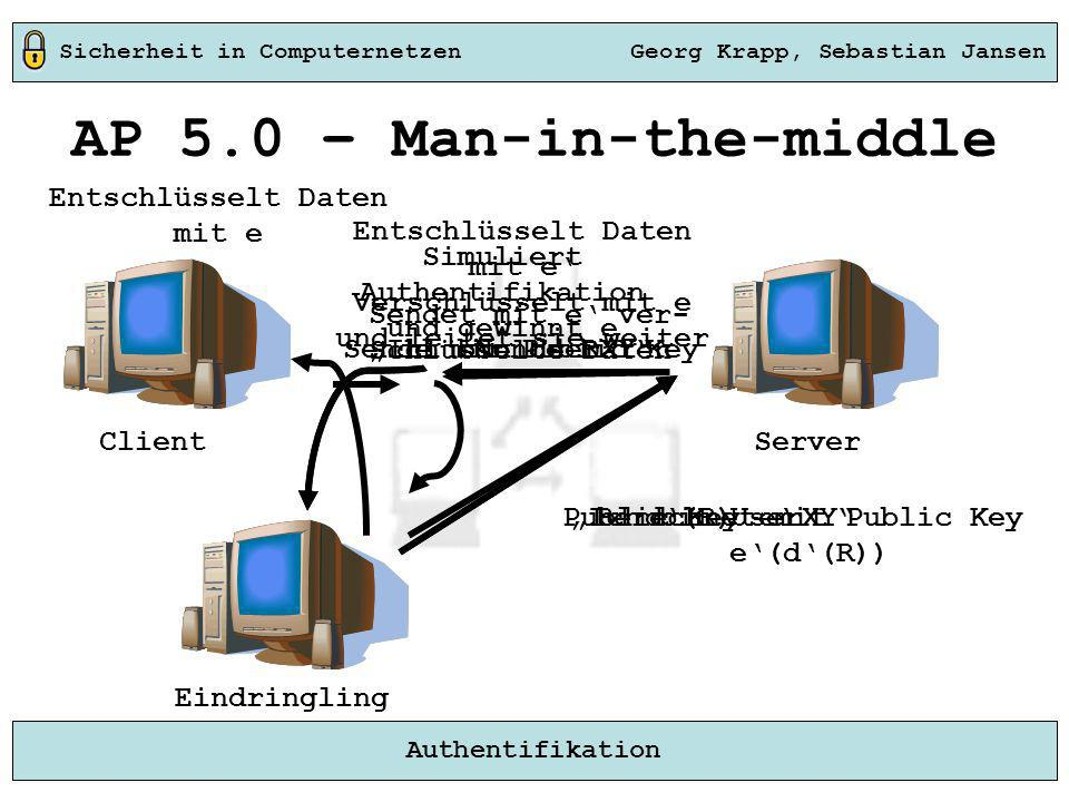 AP 5.0 – Man-in-the-middle Berechnet mit Public Key