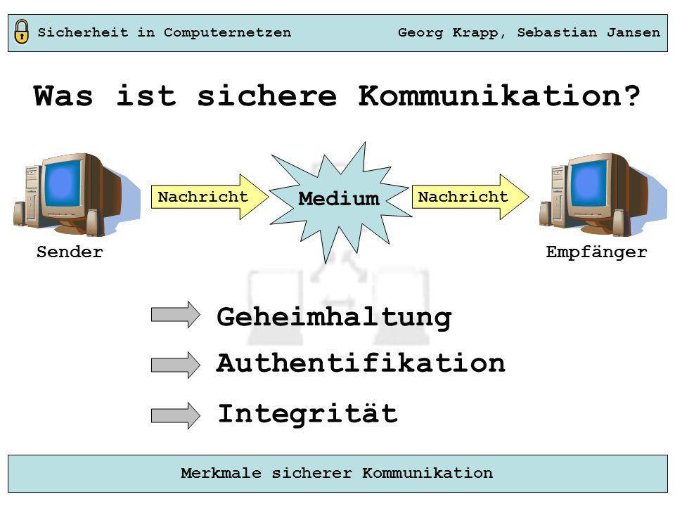 Was ist sichere Kommunikation