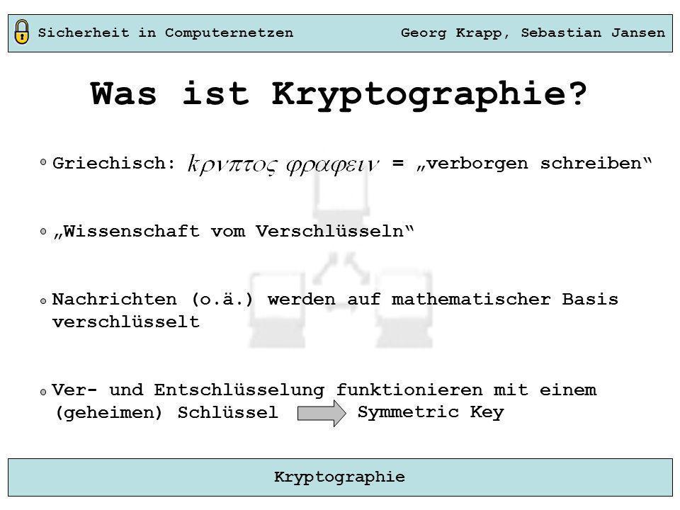 """Was ist Kryptographie Griechisch: = """"verborgen schreiben"""