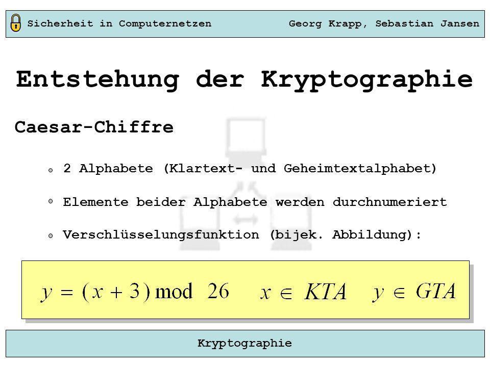 Entstehung der Kryptographie