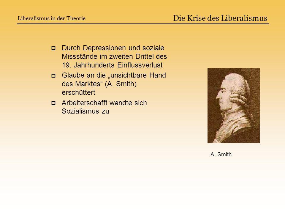 Die Krise des Liberalismus