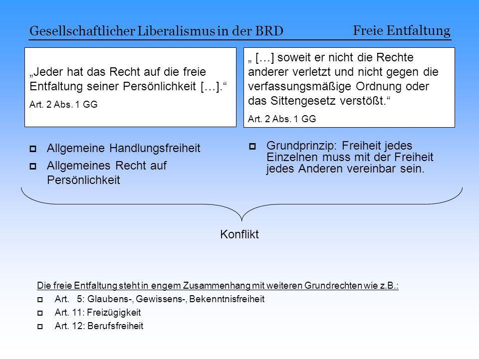 Gesellschaftlicher Liberalismus in der BRD