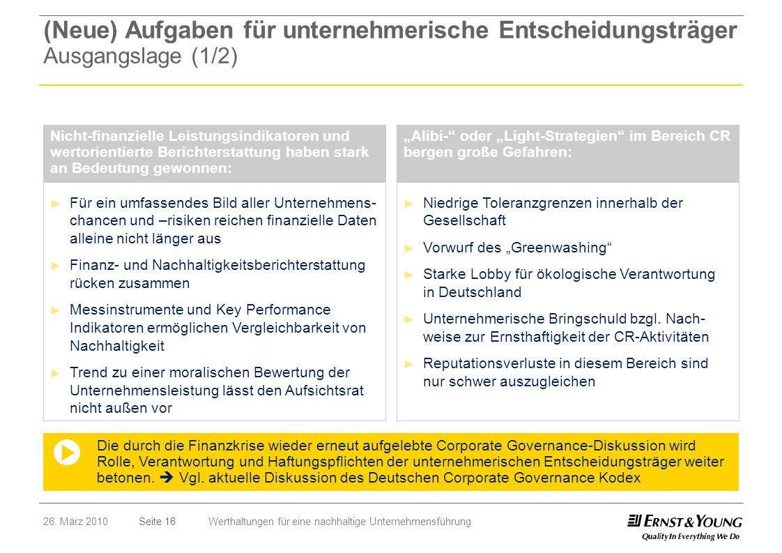 (Neue) Aufgaben für unternehmerische Entscheidungsträger Ausgangslage (1/2)