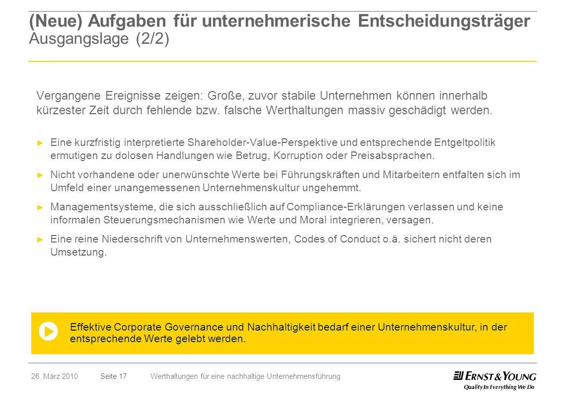 (Neue) Aufgaben für unternehmerische Entscheidungsträger Ausgangslage (2/2)