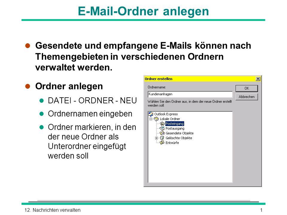 E-Mail-Ordner anlegen