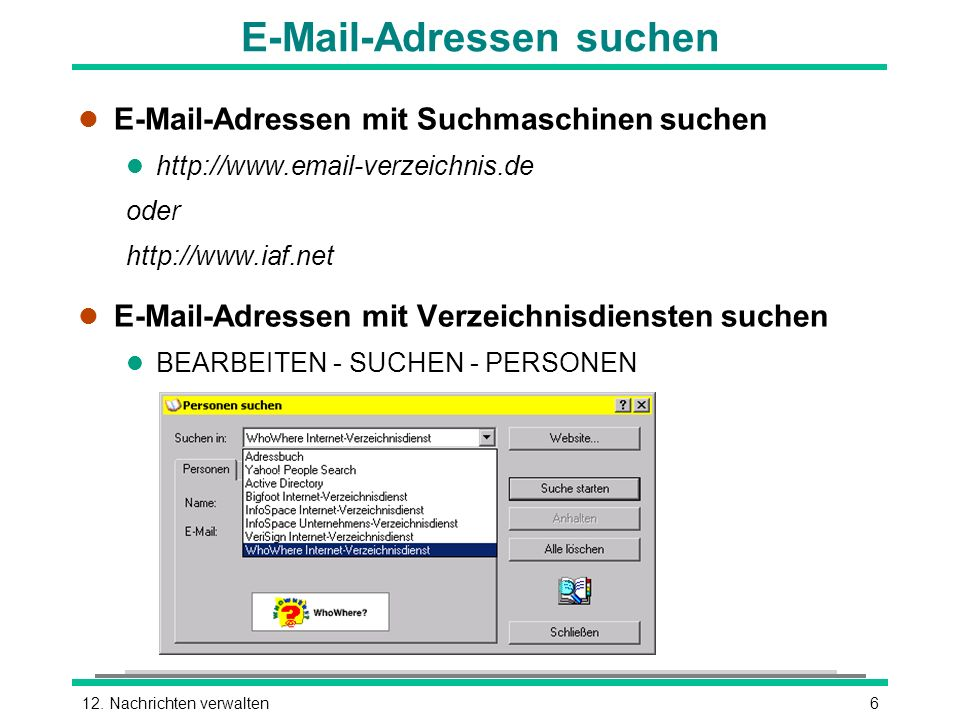 E-Mail-Adressen suchen