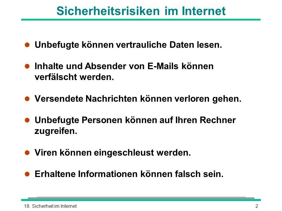 Sicherheitsrisiken im Internet