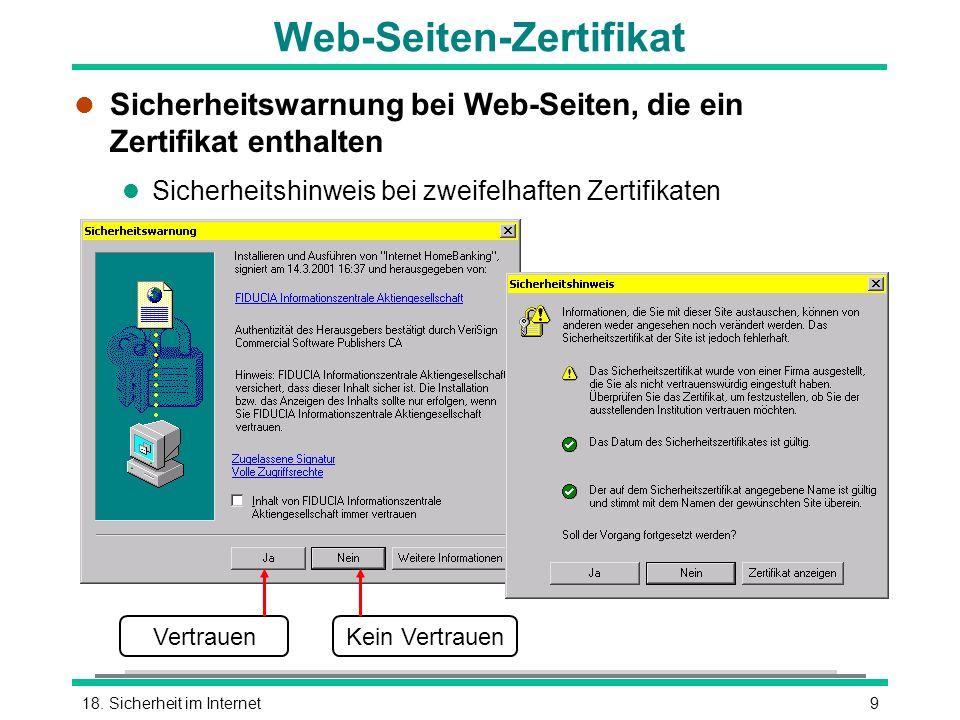 Web-Seiten-Zertifikat