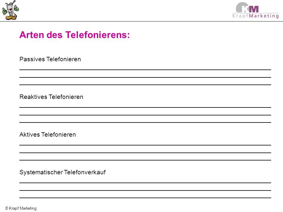 Arten des Telefonierens: