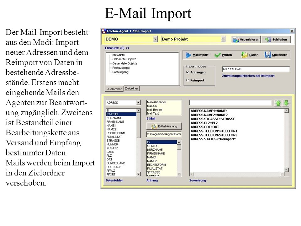 E-Mail Import