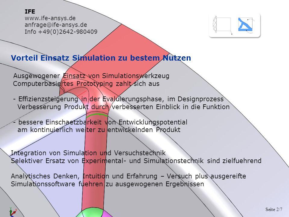 Vorteil Einsatz Simulation zu bestem Nutzen