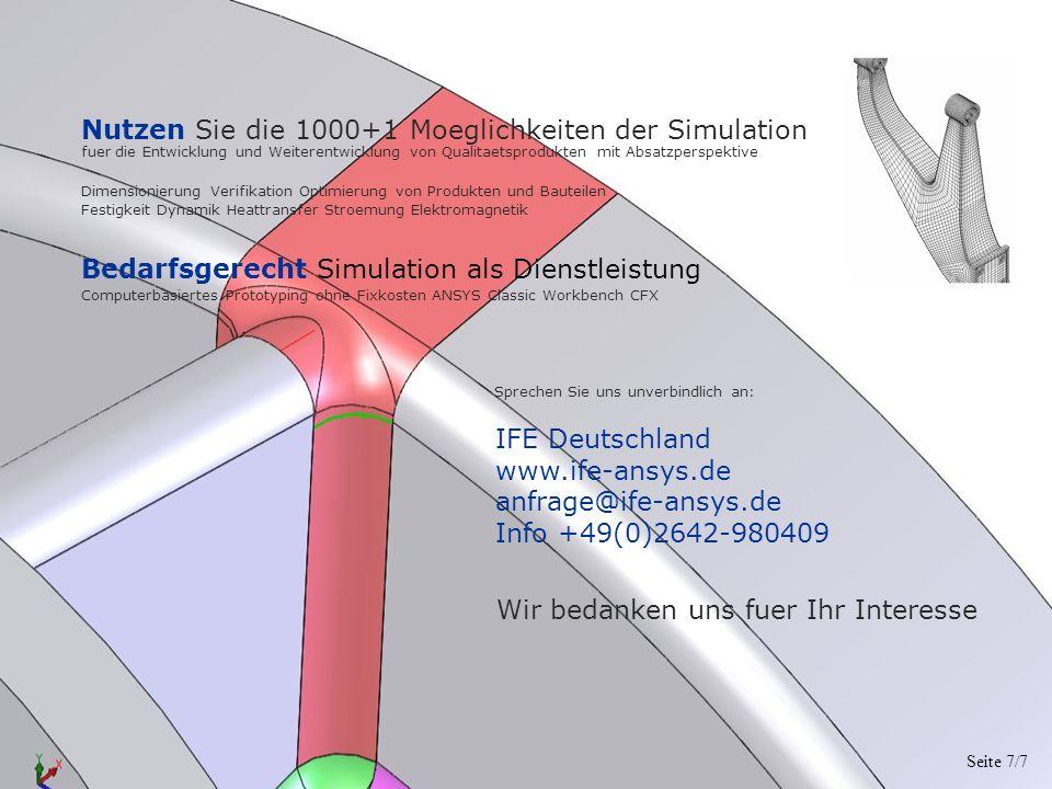 Bedarfsgerecht Simulation als Dienstleistung