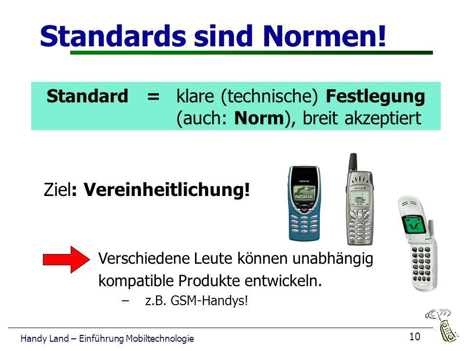 Standards sind Normen! Standard = klare (technische) Festlegung (auch: Norm), breit akzeptiert.