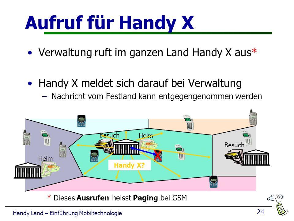 Aufruf für Handy X X Verwaltung ruft im ganzen Land Handy X aus*