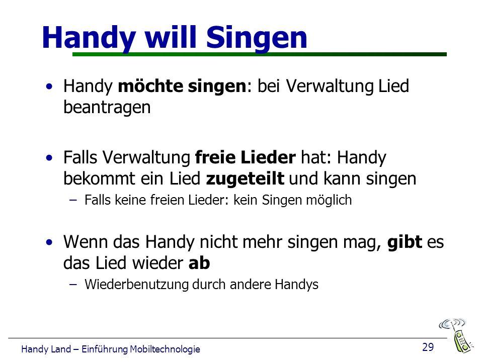 Handy will Singen Handy möchte singen: bei Verwaltung Lied beantragen