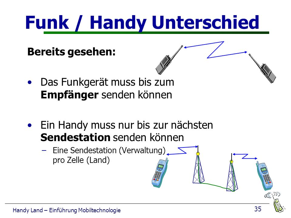Funk / Handy Unterschied