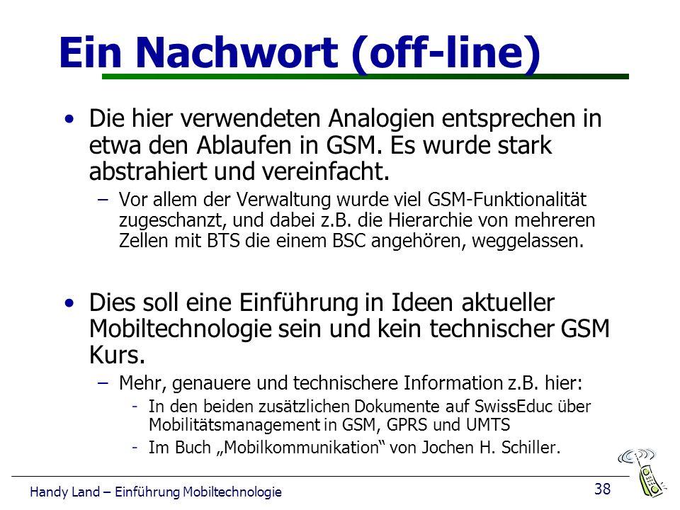 Ein Nachwort (off-line)