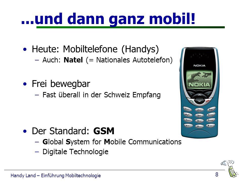 ...und dann ganz mobil! Heute: Mobiltelefone (Handys) Frei bewegbar