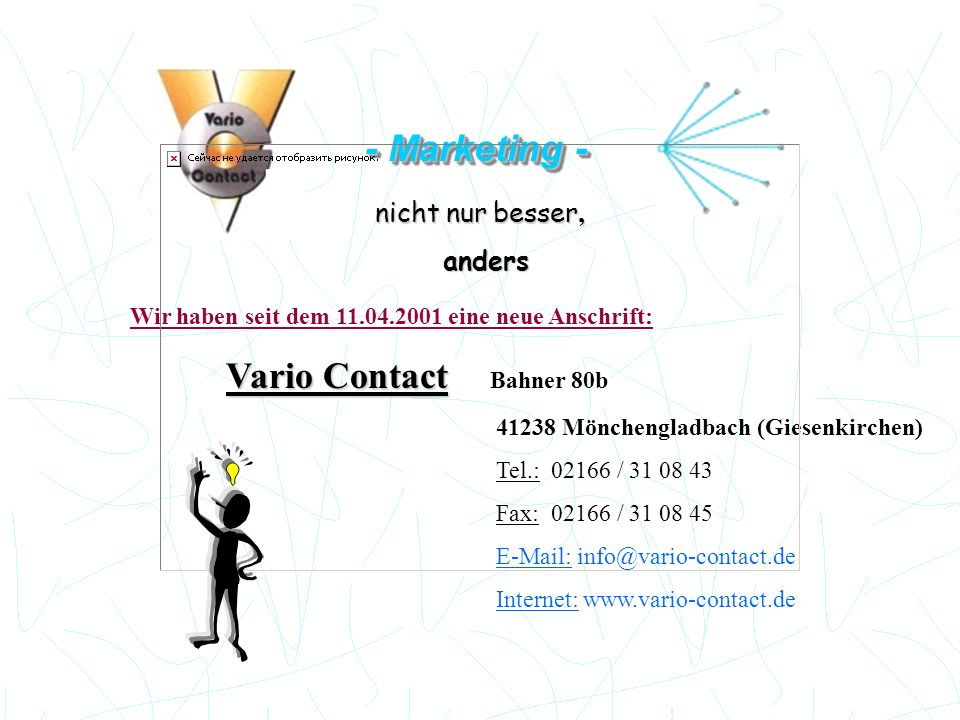 - Marketing - Vario Contact Bahner 80b nicht nur besser, anders