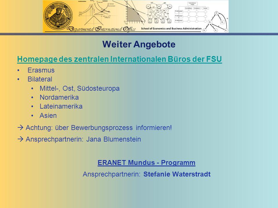 ERANET Mundus - Programm
