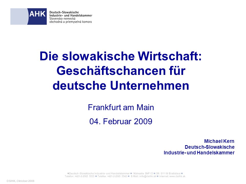 Die slowakische Wirtschaft: Geschäftschancen für deutsche Unternehmen
