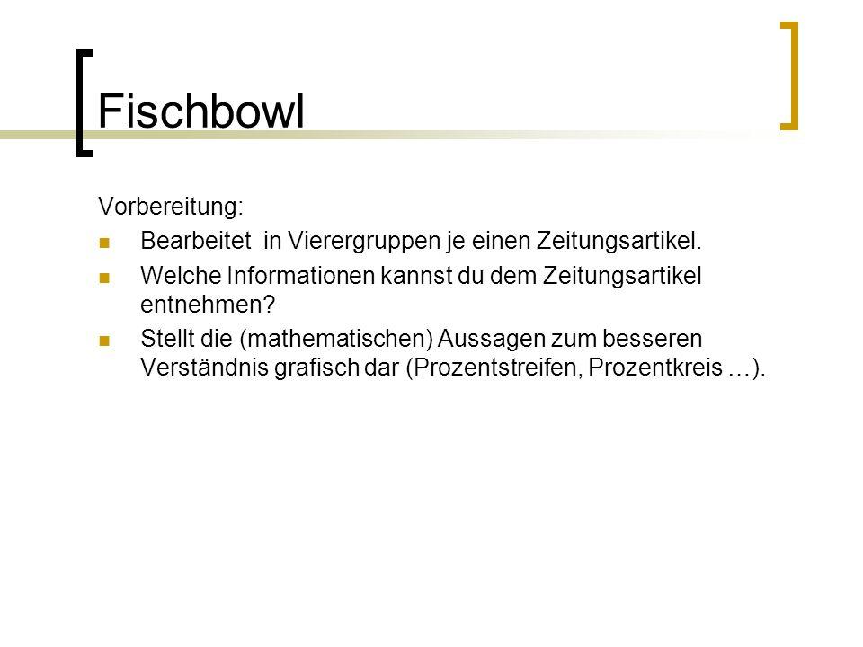Fischbowl Vorbereitung: