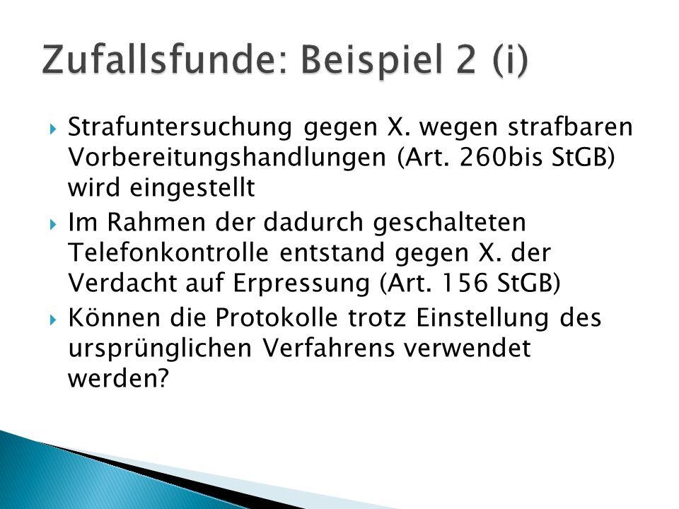 Zufallsfunde: Beispiel 2 (i)