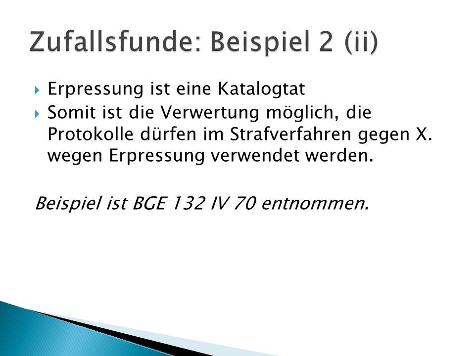 Zufallsfunde: Beispiel 2 (ii)