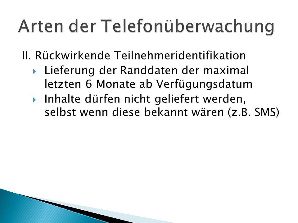 Arten der Telefonüberwachung