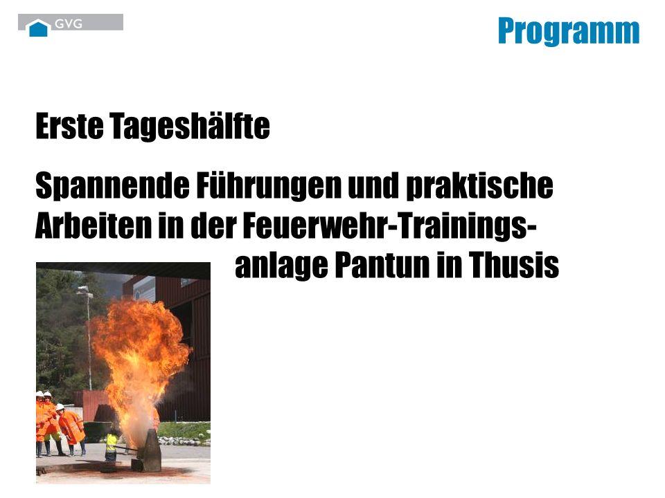 Programm Erste Tageshälfte.