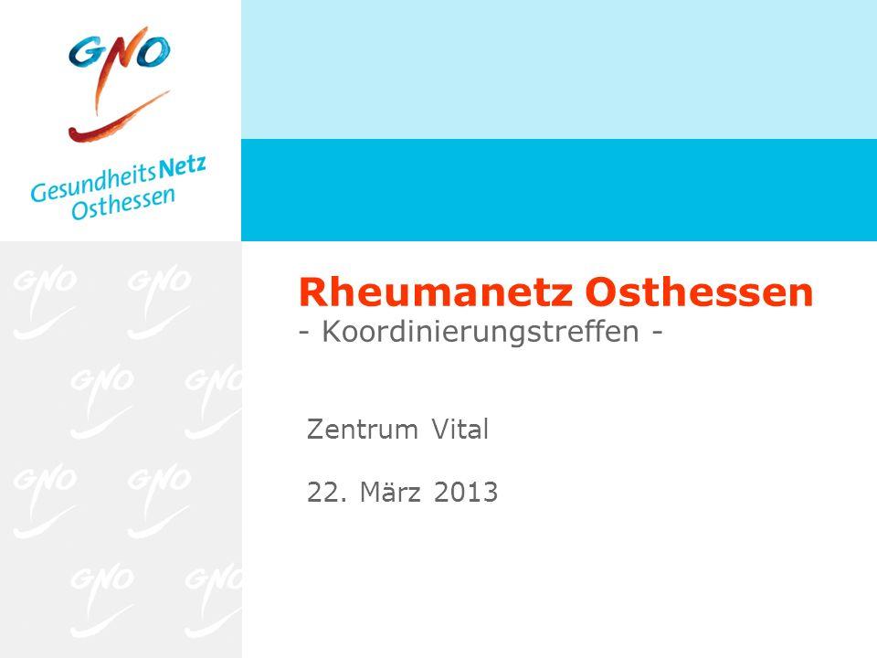 Rheumanetz Osthessen - Koordinierungstreffen -