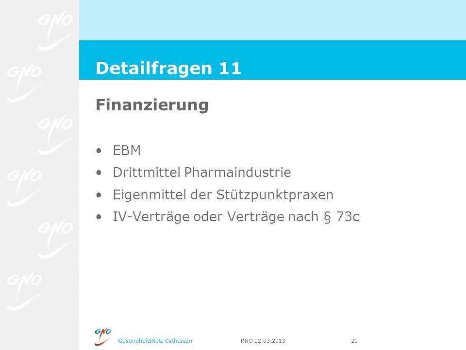 Detailfragen 11 Finanzierung EBM Drittmittel Pharmaindustrie