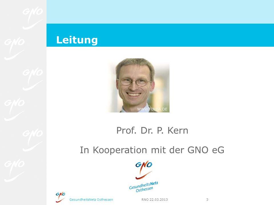 Leitung Prof. Dr. P. Kern In Kooperation mit der GNO eG