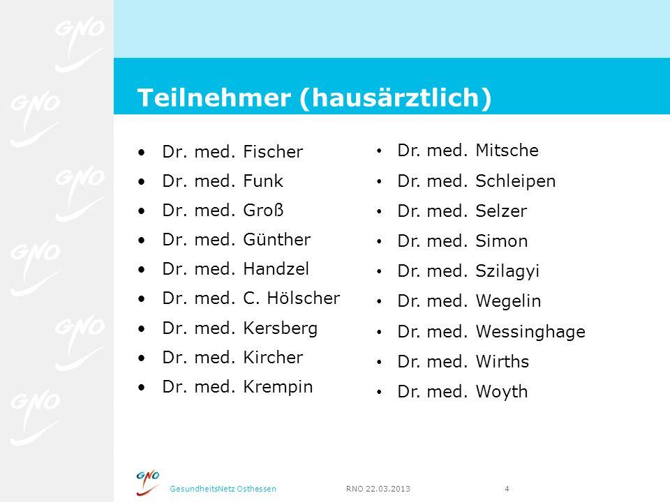 Teilnehmer (hausärztlich)