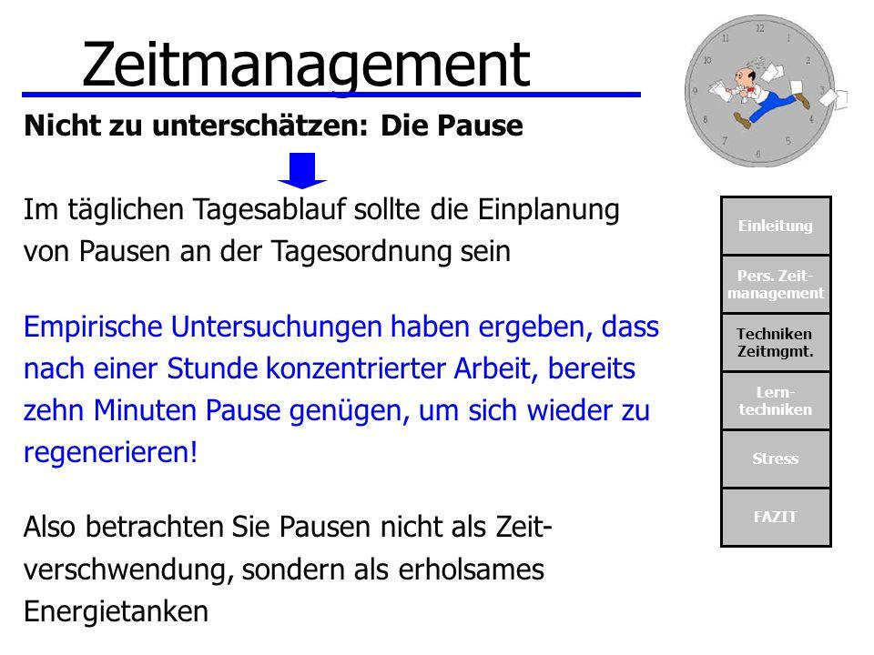 Zeitmanagement Nicht zu unterschätzen: Die Pause